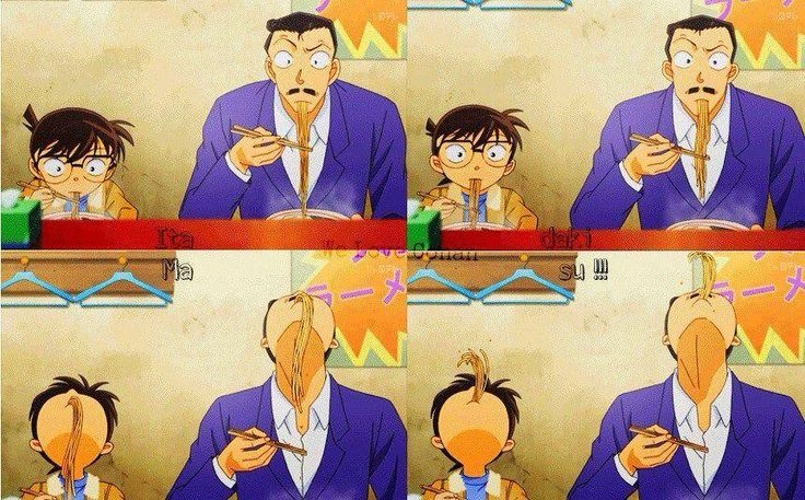 Conan and Kogoro. Like father like future son-in-law