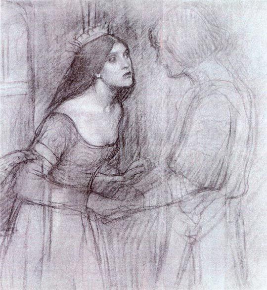 John William Waterhouse: Une étude Femme - 1894