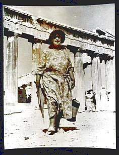 Agatha Christie in Athens, 1958.