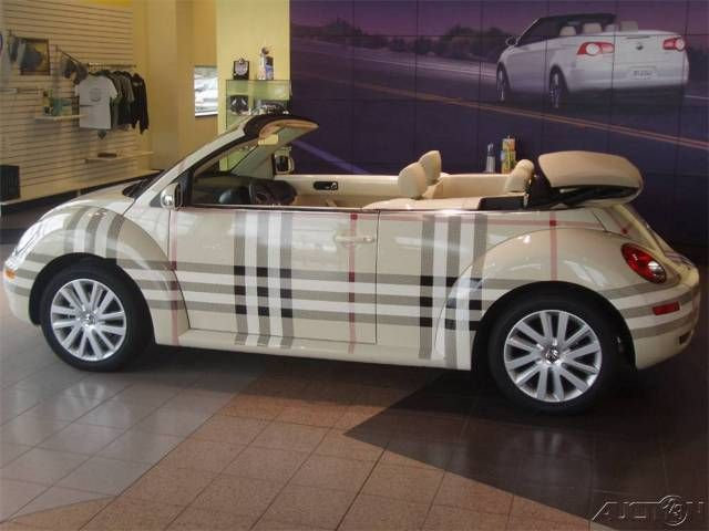 burberry vehicle wrap, vw beetle