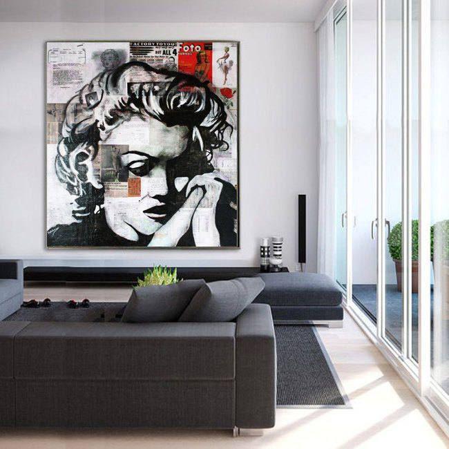 Canvas Print - Marilyn MONROE - Stretched & Ready To Hang, Large Print, Modern Print, Canvas Art, Wall Art Decor by Kathleen Artist de la boutique KathleenProFineArt sur Etsy