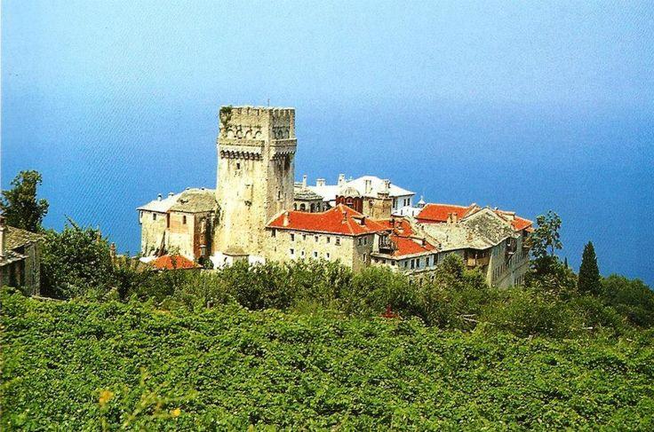 Η Ιερά Μονή Καρακάλλου. Εξωτερική άποψη. - Holy Monastery of Karakallou. External view.