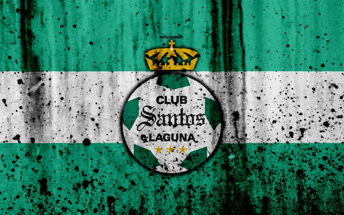 Download wallpapers 4k, FC Santos Laguna, grunge, Liga MX, soccer, art, Primera Division, football club, Mexico, Santos Laguna, stone texture, Pachuca FC