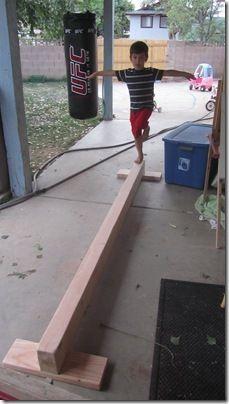 Balance beam. great for active preschoolers!