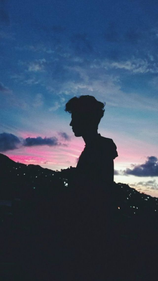 Aesthetic Photography Aesthetic Boy Silhouette Viral And Trend Boy Silhouette Cute Wallpapers Cute Couple Wallpaper Trends for boy wallpaper for iphone