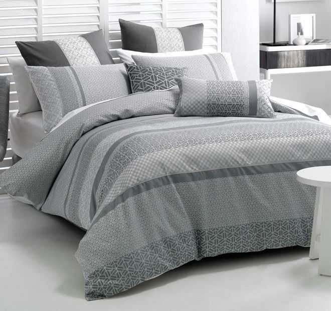 Deco Takara Quilt Cover Set Range Charcoal