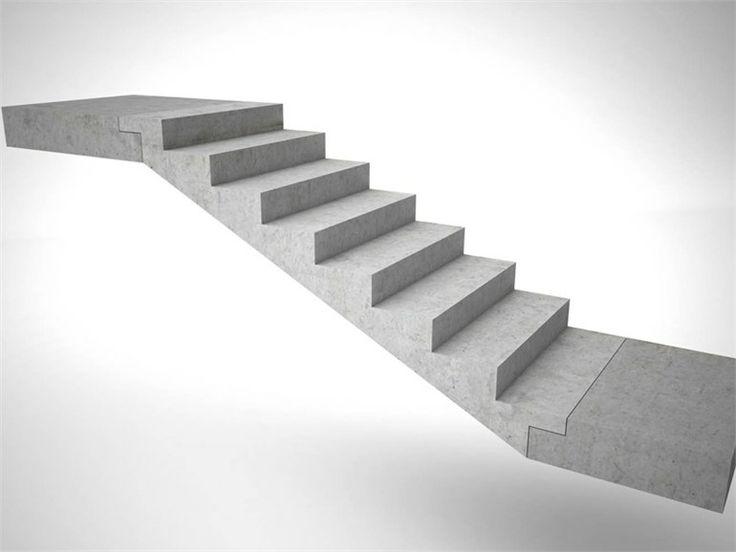Vorgefertigte Offene Treppe aus Beton by PROGRESS