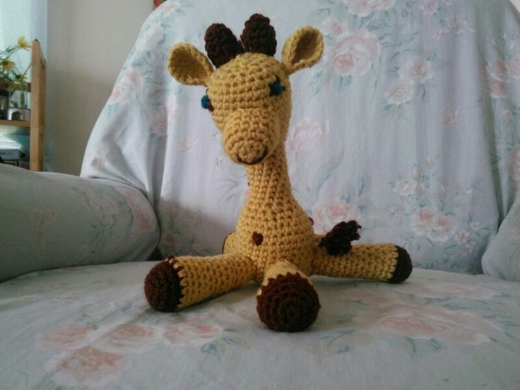 Pattern from amigurumitogo.com. little Bigfoot giraffe ...