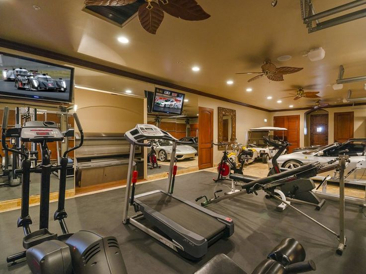 Luxury garage gym crypted molesting chambers pinterest