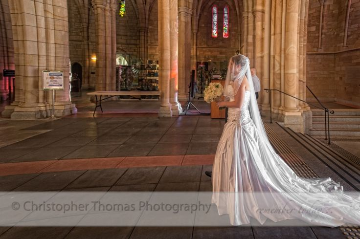 St John's Cathedral, Church Wedding, Brisbane Wedding Photographer, Christopher Thomas Photography, Bride Entering Church,