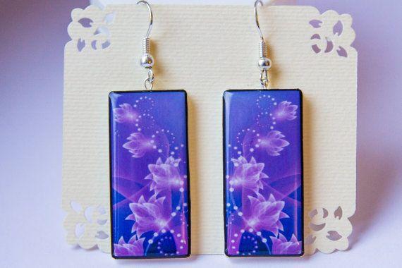 Lavender floral dangle earrings purple earrings от JewelryBest