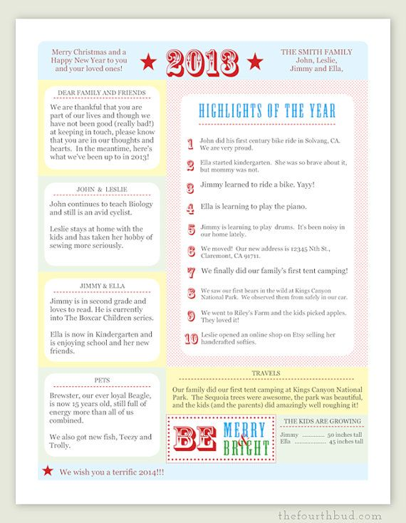 94 Best Yearly Review Letter Images On Pinterest | Holiday Cards