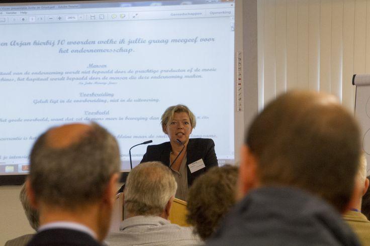 Anita de Groot gaf voorbeelden waarmee zij in haar bedrijf succesvol opereert