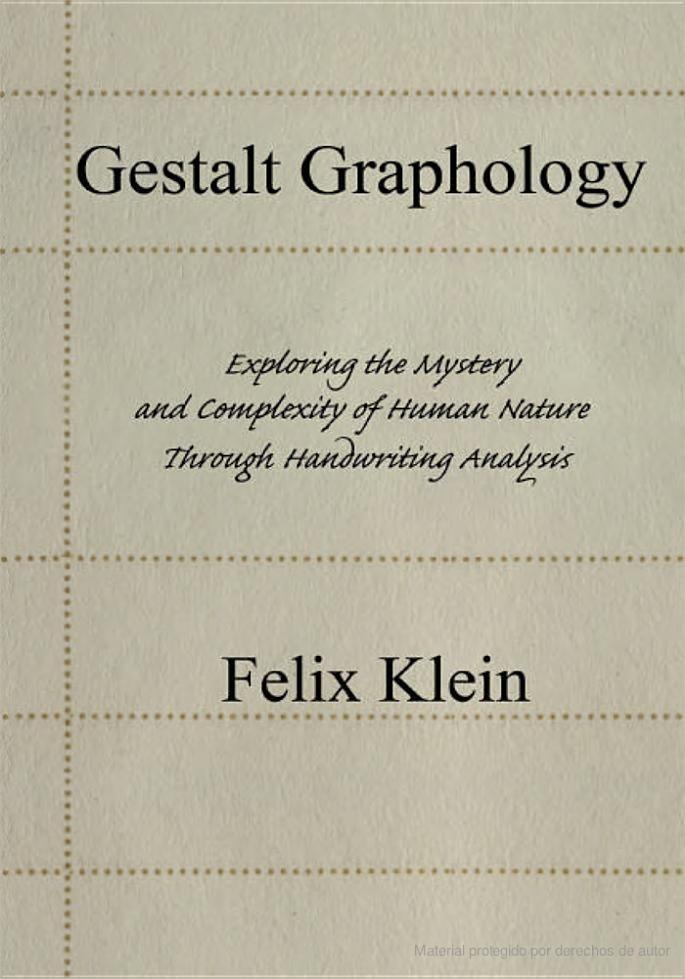 Grafología Gestáltica 1 Felix Klein