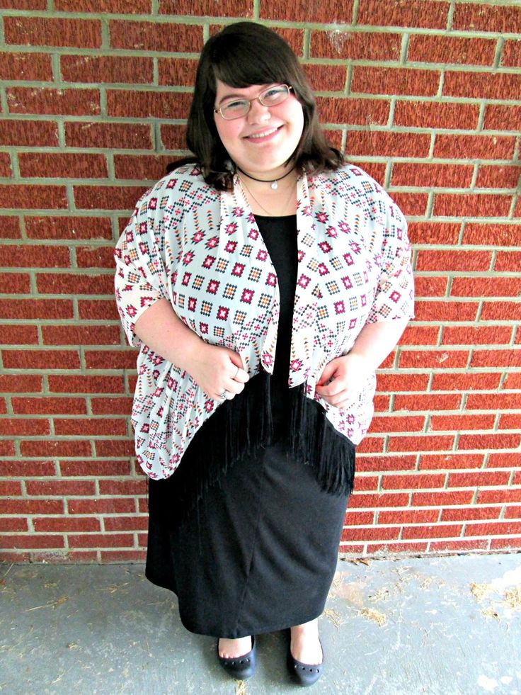 Unique Geek: Plus Size OOTD: Another Cheap Kimono #plussizefashionblogger #plussize #plussizefashion #plussizeoutfit #kimono #aztec