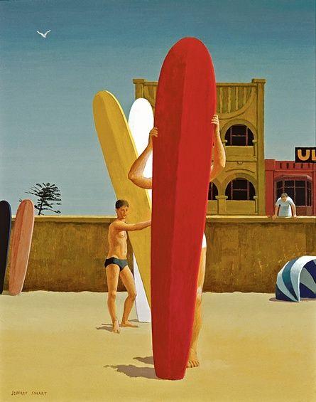 Surfer's Bondi (1963) by Jeffrey Smart