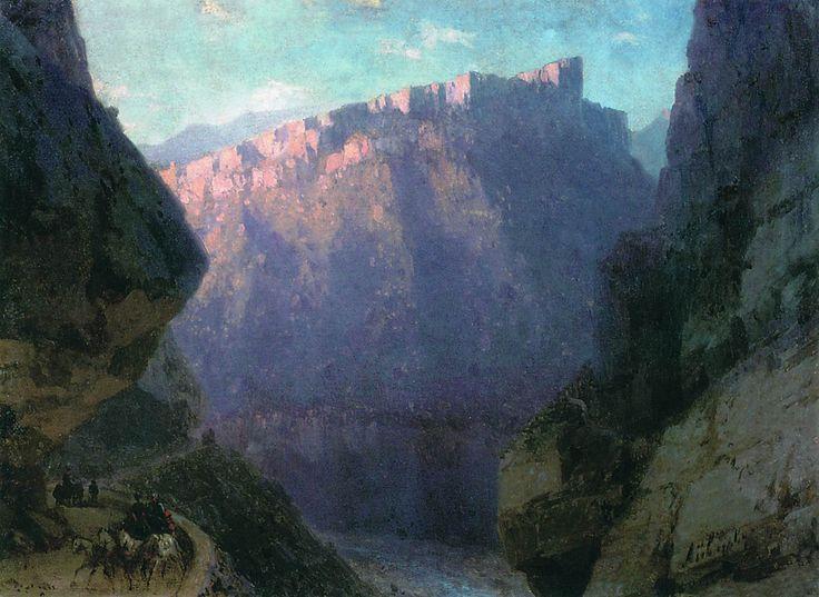 Айвазовский. Дарьяльское ущелье. 1868