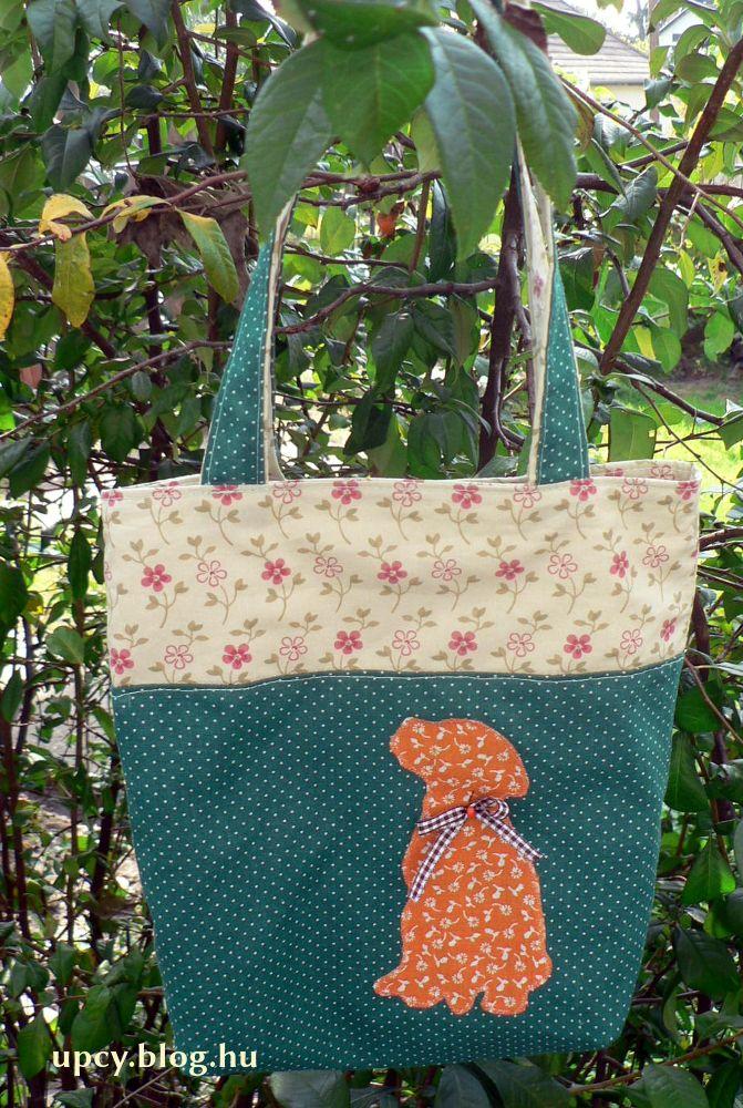 Gift bag - left-over fabric. Ajándéktáska, csomagolásnak, maradék anyagokból.