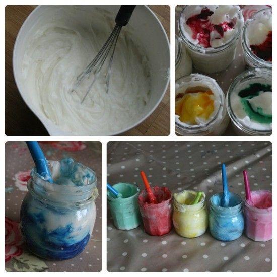 Pintura comestible para niños