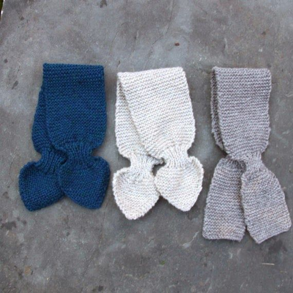 Tiptoethrough: Boy's Baby and Toddler Scarf Knitting Pattern