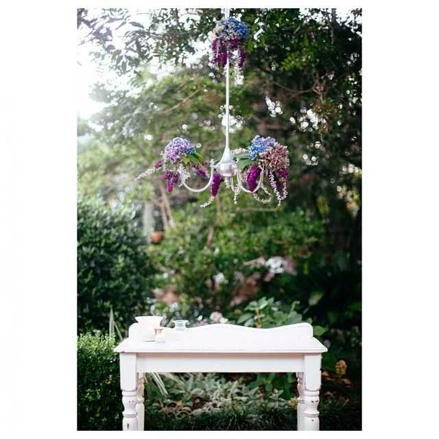 Where would you hang your floral chandelier? Garden party, wedding, high tea, birthday party, a photo shoot... So many options! Contact Sue and Tessa to discuss your unique design for your special event. #floralchandeliers #flowers #eventdecor #weddings #photoshoot #willowandvine #gardenparty