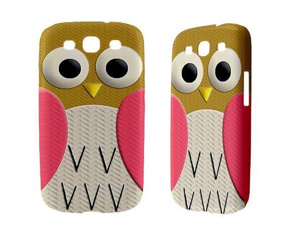 New Samsung Galaxy S3 Phone Case Cute Retro Owl by sevenheven