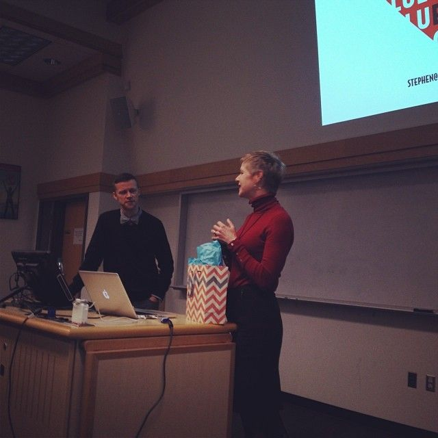 Stephen Bailey, 'Murketing' and Communications Director from Fluevog Shoes visited our school on Wednesday and gave an incredible talk to our MBAs, as well to the UVic community!