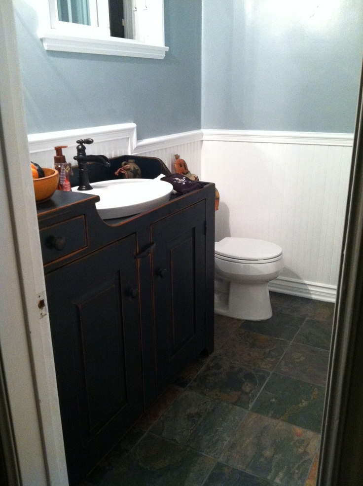 Here Is My Very Own Primitive Bath. The Focal Point Is The Fabulous Dry Sink