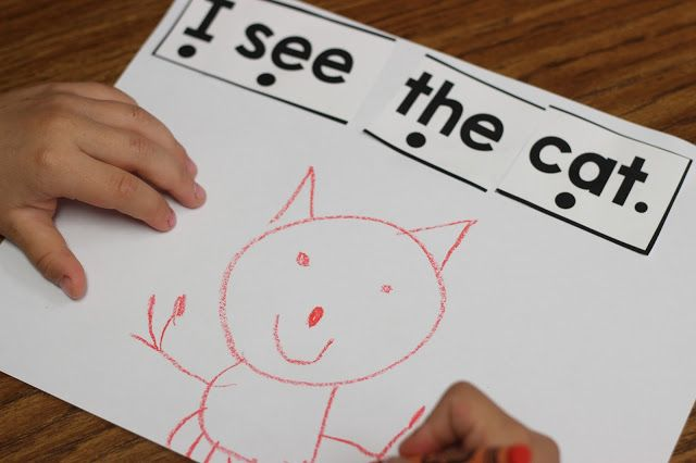 Beginning of the year kindergarten guided reading activities! Mix and fix sentences and more. View HERE!