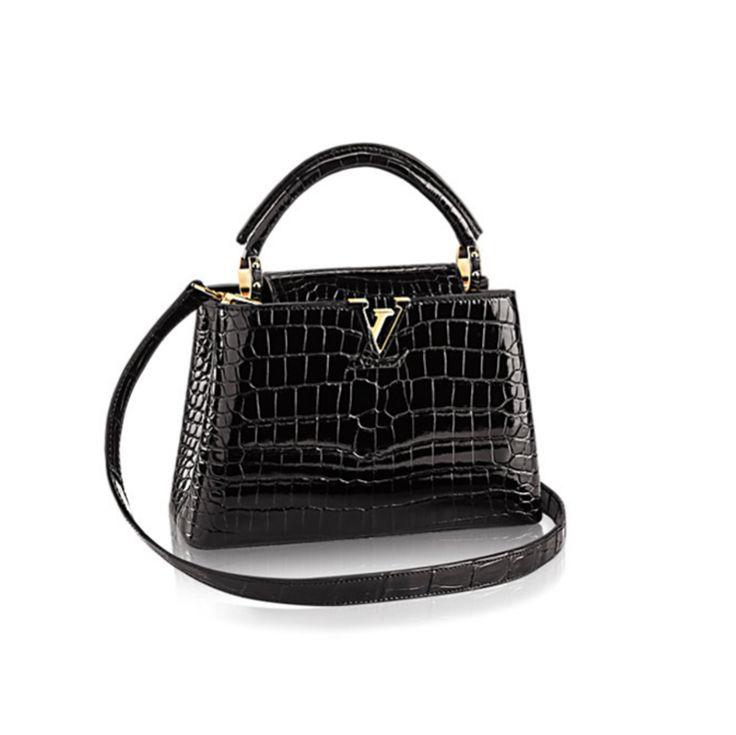 Louis Vuitton Capucines bag crocodile black www.bagvibes.com