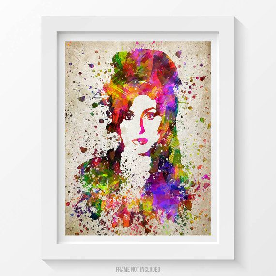 Amy Winehouse Poster Print de Amy Winehouse Amy par Agedpixel