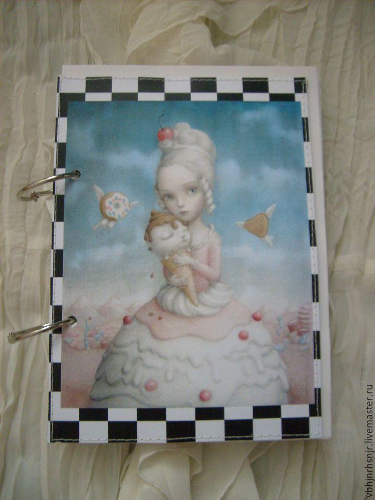 Купить кулинарный блокнот Алисы - блокнот, подарок, подарок на день рождения, винтажный стиль