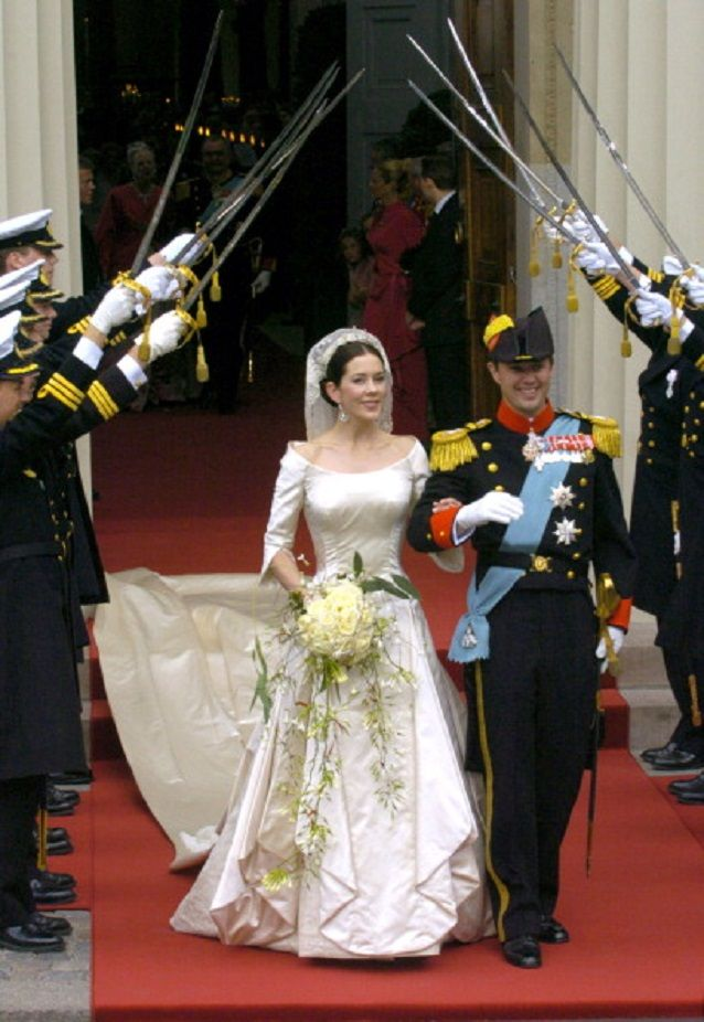The Wedding Of Crown Prince Frederik and Mary Donaldson At The Vor Frue Kirke Cathedral on 14 May 2004
