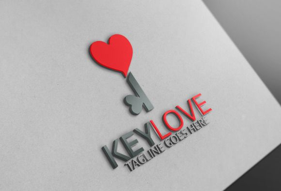 Key Heart Logo @creativework247