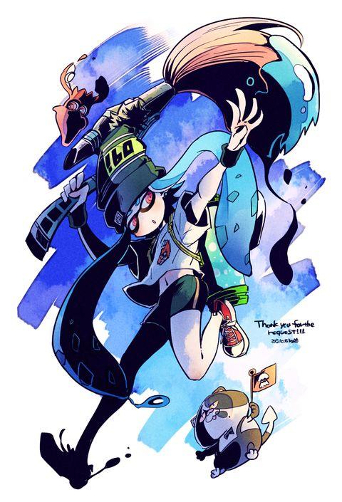 cosplay Splatoon squid sisters