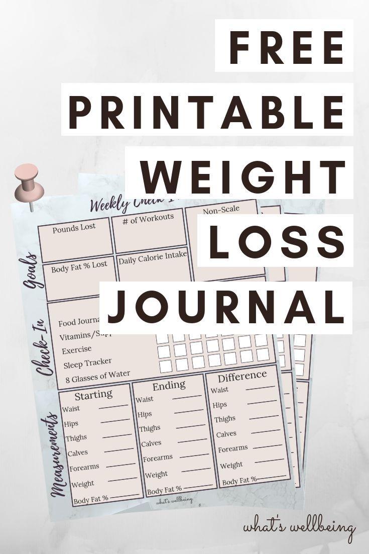 Druckbarer Gewichtsverlust-Fortschritts-Tracker