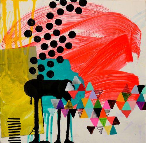 by Jennifer Sanchez: Jennifer Sánchez, Mixedmedia, Jennifer'S Sanchez, Pattern, Art Inspiration, Jennifer Sanchez, Black White, Colors Palettes, Shiny Squirrels