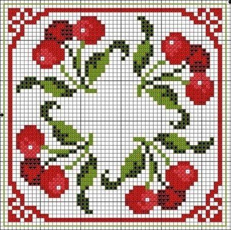 Милые сердцу штучки: Вышивка крестом: Еще немного сочной вишни (подборка схем)