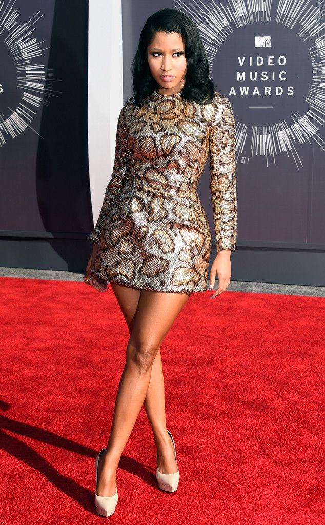 Nicki Minaj from 2014 MTV Video Music Awards Red Carpet Arrivals  Shockingly, the rapper-singer was covered up for her red carpet appearance.