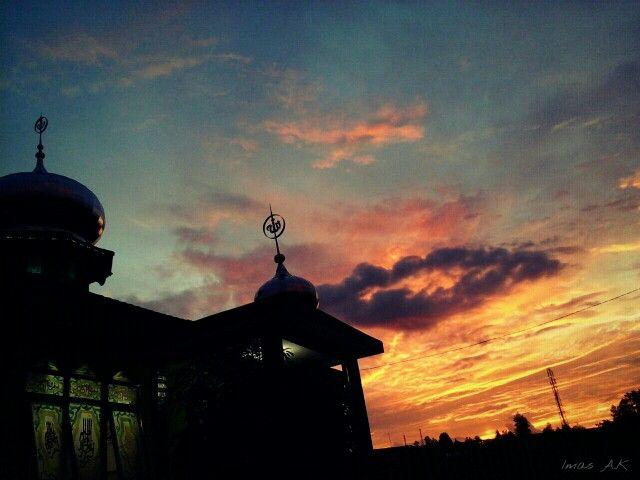 Panggilan dari Tuhan terdengar di masjid Blangkejeren, Gayo Lues, Aceh, Indonesia.