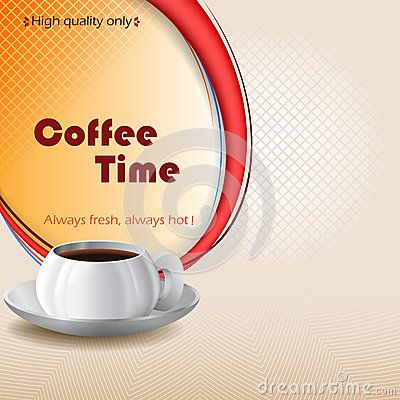 Coffee Time design background with cup of coffee