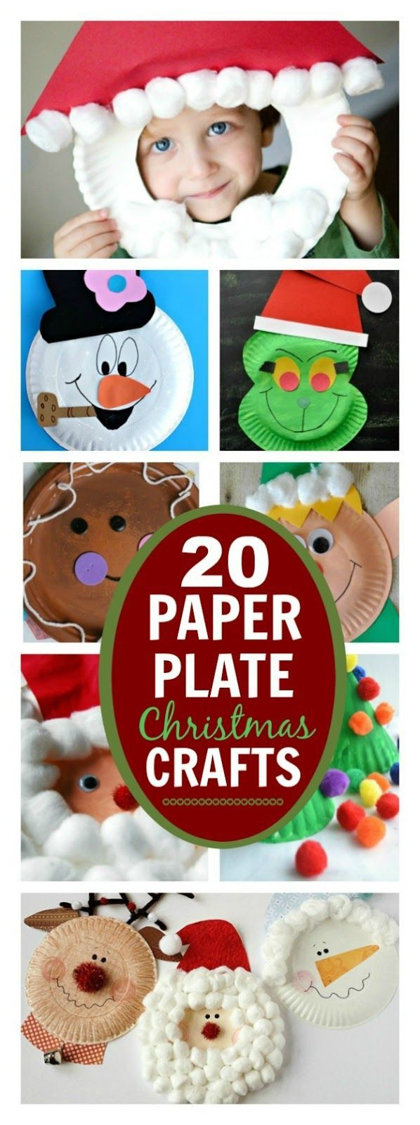 Crafts with Paper Plates – 20 Ideas for Christmas Baskets with Children