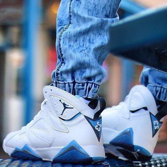 "SHOP: Nike Air Jordan 7 Retro ""French Blue"" | Available at kickbackzny.com."