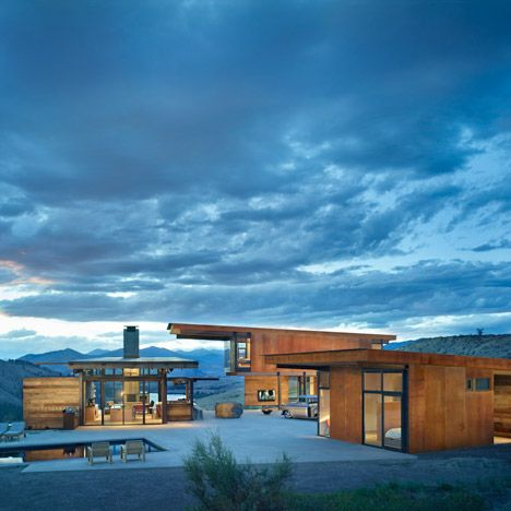 The #AIA have named the top 10 American housing projects of the year! A great selection that includes the beautiful Studhorse; Winthrop, Washington by#OlsonKundigArchitects | #OlsonKundig #Architecture #Dezeen #Article #America #US