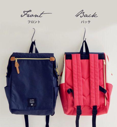Japan Anello Original Flap Unisex Canvas Backpack Rucksack School Bag Campus