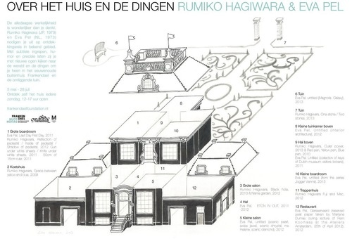 Map of manorial estate Frankendael for the exhibition About the House and the Things with Rumiko Hagiwara & Eva Pel | Lisa Wiersma
