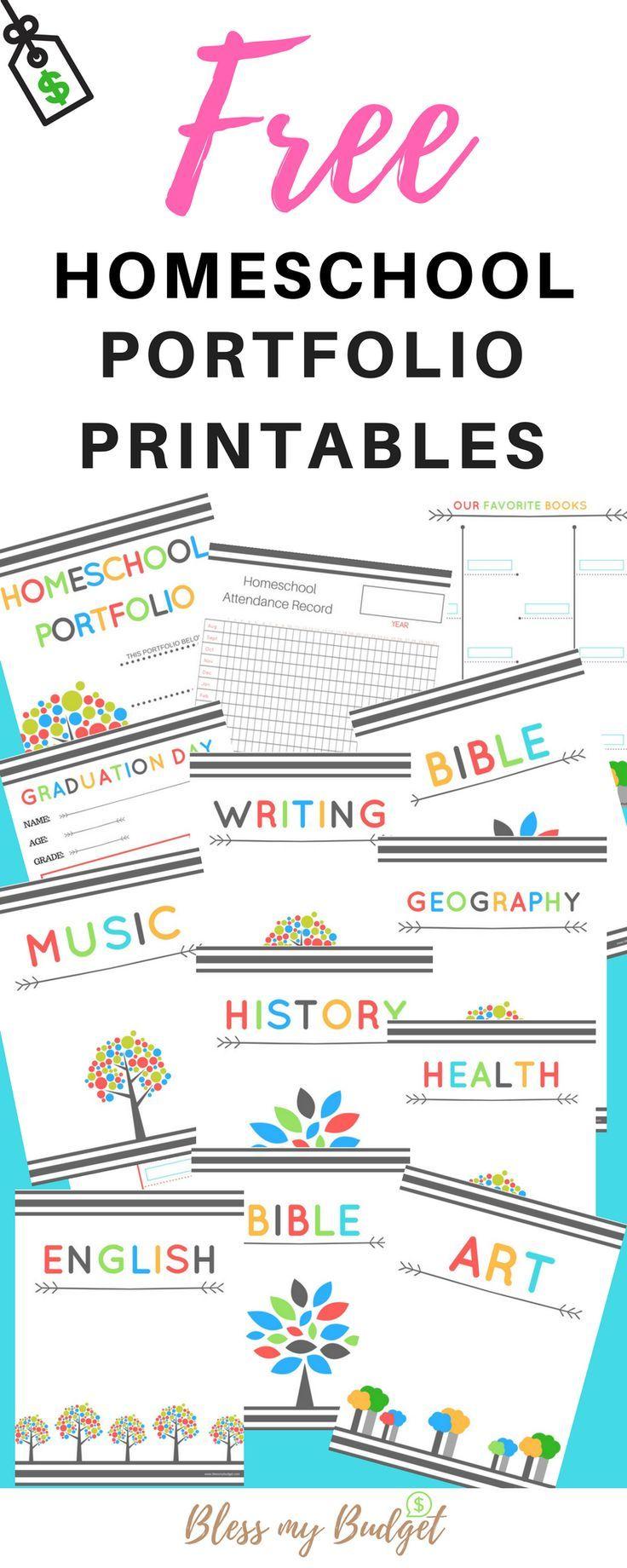 Free Homeschool Portfolio Printables . How to easily set up ...