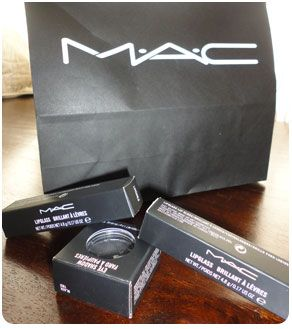 You can trade in 6 empty MAC makeup product containers in exchange for 1 lipstick/eyeshadow