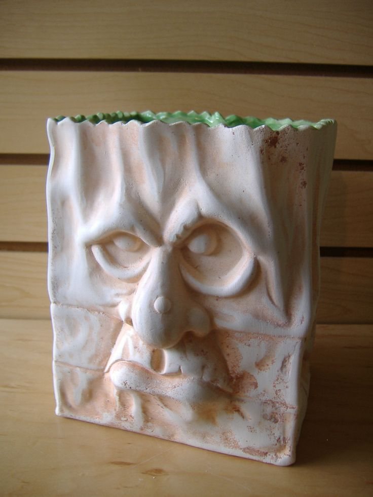 Ready to paint ceramic bisque halloween decoration grumpy for Diy ceramic painting