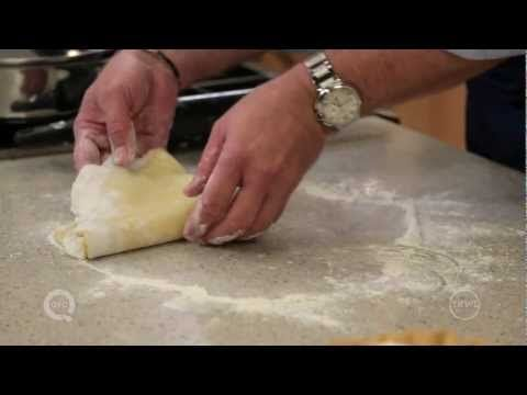 How to Make the Perfect Pie Crust-This is the easiest pie crust from scratch that I've seen and David does not use a food processor to make the crust!